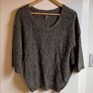 Free people split back dolman sweater